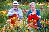 Christina und Tomas Bamberg im Taglilien-Garten