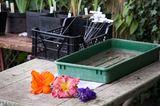 Werktisch im Garten