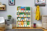 Bücherregal mit Kleinbuchstaben