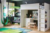 Hochbettkombination mit Schreibtisch von Ikea
