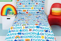 ABC-Bettwäsche fürs Kinderzimmer