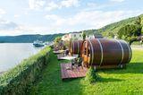 Schlafass am Rhein