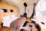 Iglu-Hotel in der Schweiz von innen