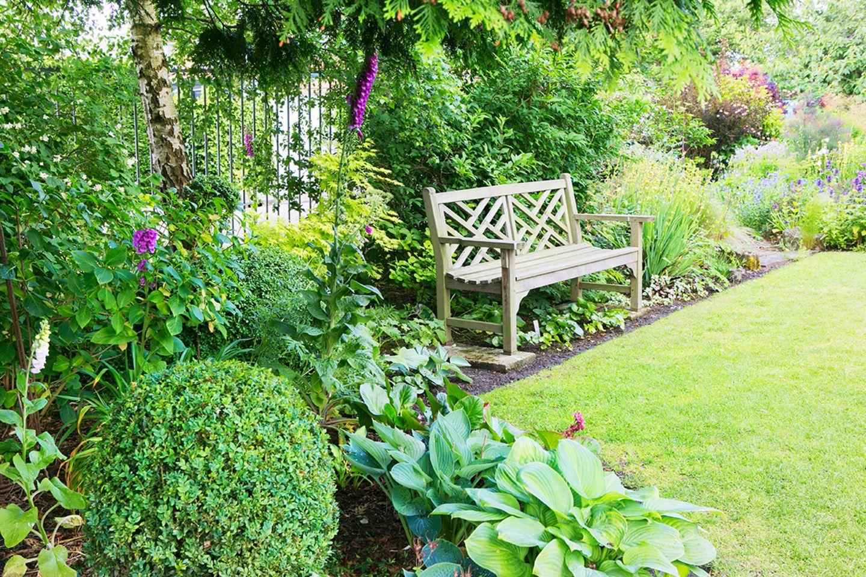 Ein kleiner Park vor der Gartentür