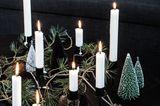 Dekoration mit Kerzen zu Weihnachten