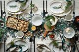 Gedeckter Tisch - Hütten-Romantik auf der Weihnachtstafel