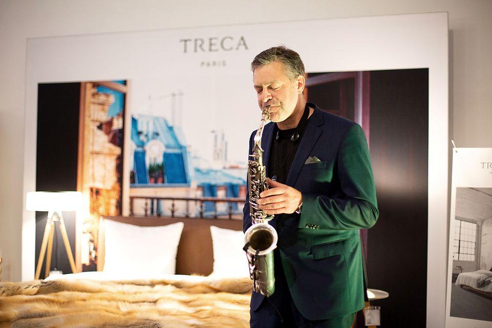 Saxophonist Eike Sax