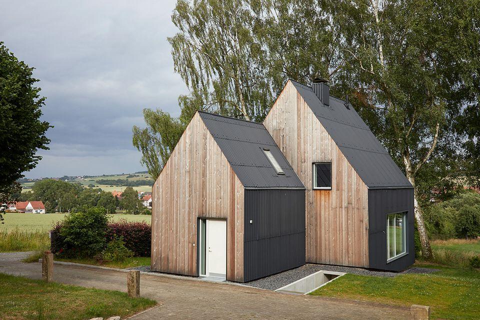 Modernisiertes Fachwerkhaus von außen