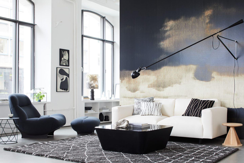 Schwarz-Weiß kombiniert mit Cremenuancen