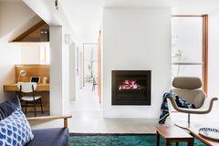 Home Office integriert in ein Wohnzimmer