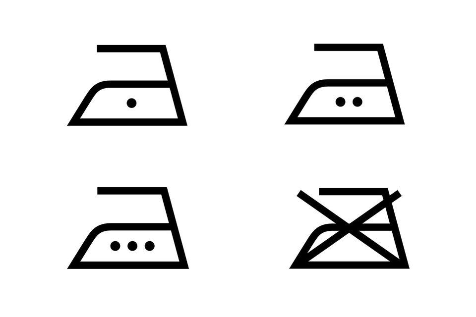 Waschsymbole: Bügeln