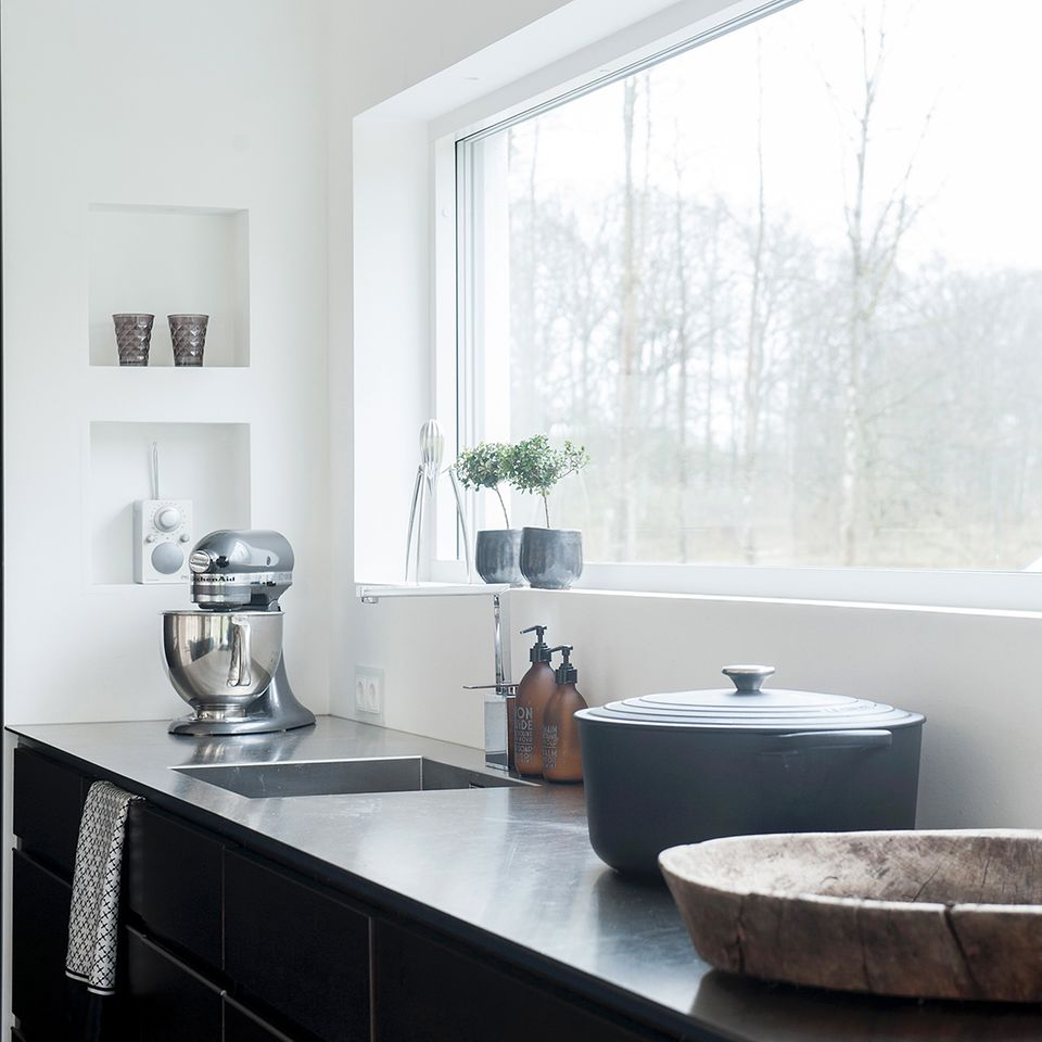 Küche mit Panorama-Fenster