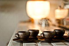 Espressotassen von Kaffeeform aus Kaffeeabfall