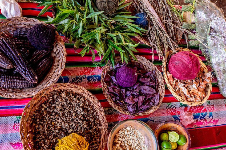 Färberpflanzen für Wolle, Garne und Stoffe