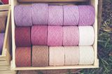 Natürlich gefärbte Wolle