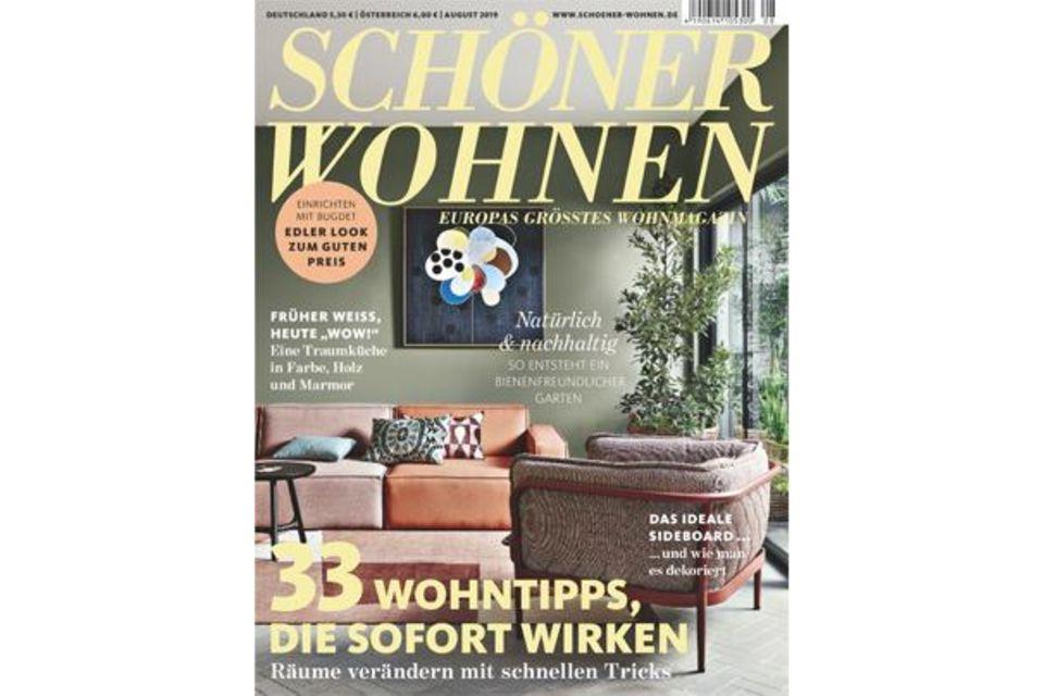 Blick ins Heft: SCHÖNER WOHNEN 08/2019