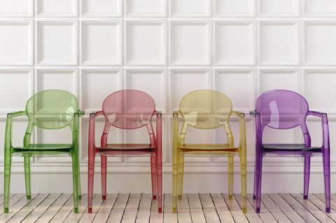 Transparente Möbel