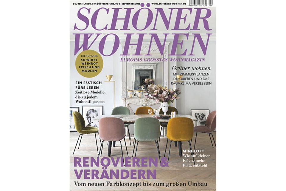 SCHÖNER WOHNEN 9-2019: Cover - PNG