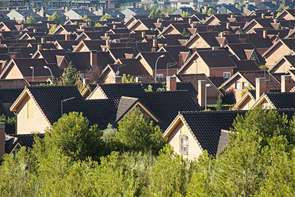 Häusersiedlung