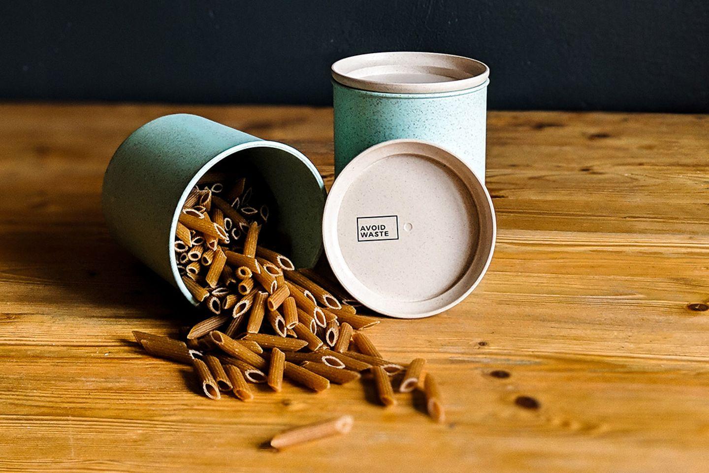 Statt Plastik: Vorratsdosen aus gepresstem Weizenstroh von Avoid Waste