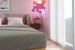 """Smart Home im Schlafzimmer: LED-Kacheln """"Canvas"""" von Nanoleaf"""