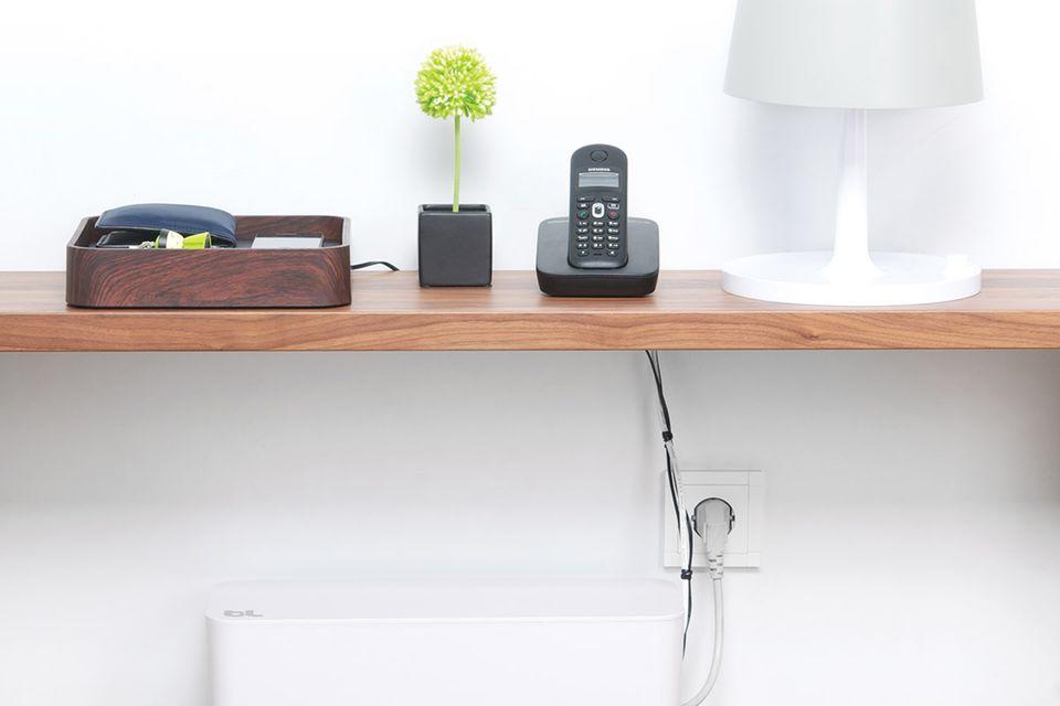Kabel verstecken – mit der Kabelbox von Bluelounge