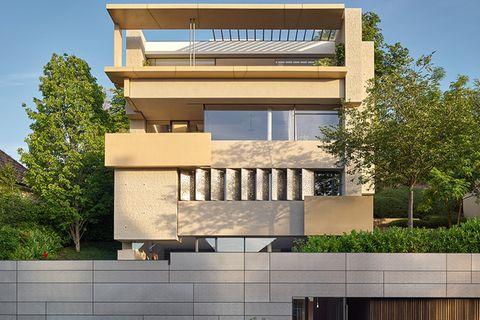 Moderne Villa als Leistungsschau: Fassade