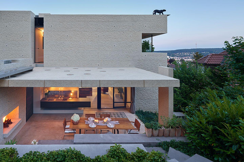Moderne Villa als Leistungsschau: Gartenzimmer
