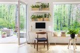 Home Office mit Ausblick und viel Grün