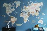 Weltkarte als Wandtattoo fürs Kinderzimmer – von Inke.nl