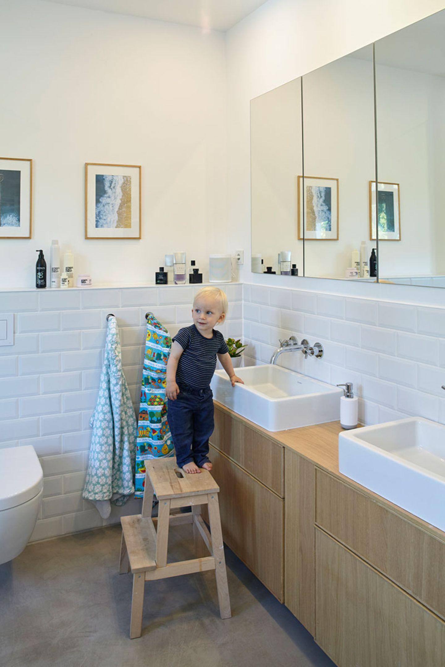 Doppelhaushälfte Badezimmer