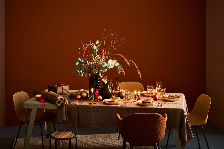 Festliches Finale: Tischdeko