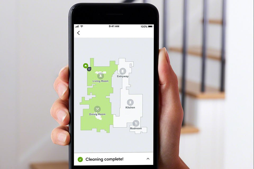 Karte eines Roomba-Saugroboters von iRobot.