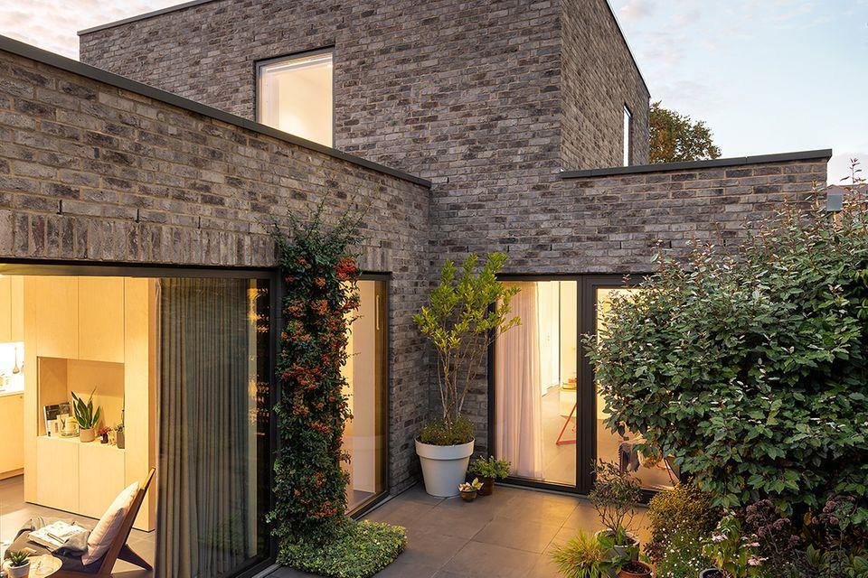 Londoner Stadhaus mit Hofgarten