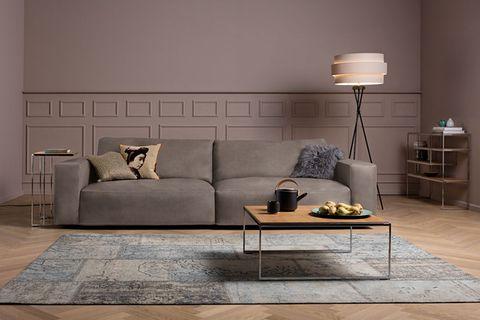 "Sofa ""Lucia"" von Gallery M in taupe"