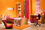 Wohnen im 90ies-Look - JUgendzimmer in Orange, Pink, Neon