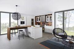 """Küche """"Carré-FS"""" in Weiß von Leicht Küchen"""