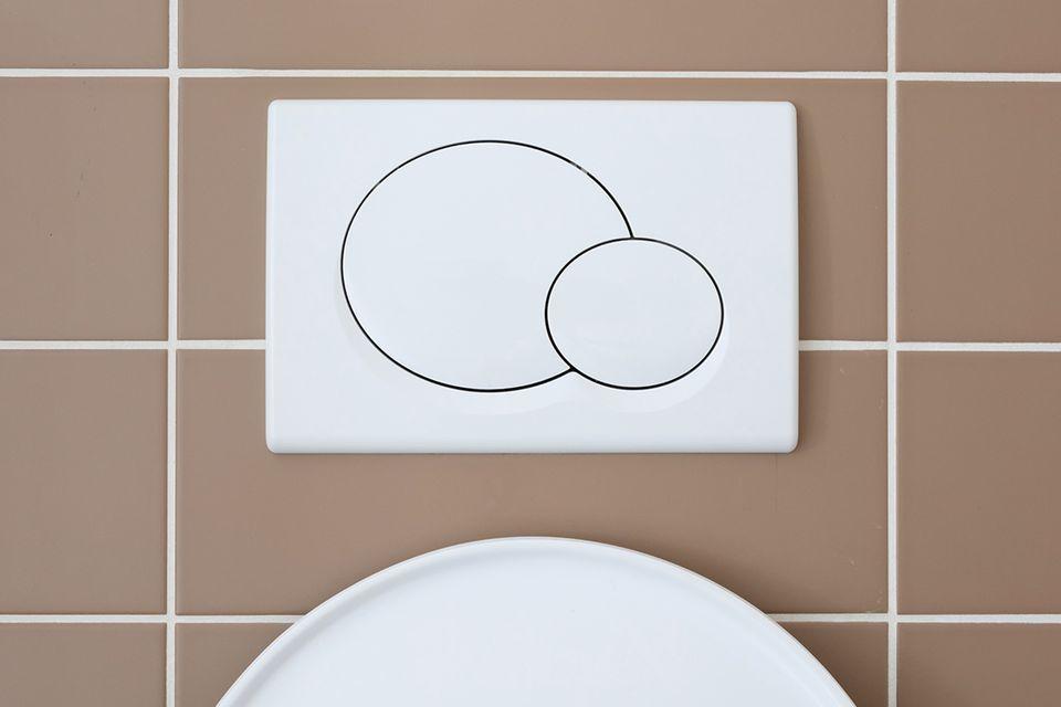 Keimschleuder Toilettenspülknopf