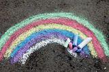 Regenbogen aus Straßenkreide