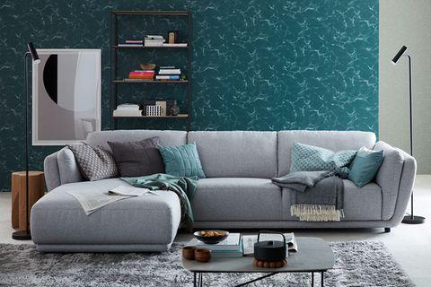 """Sofa """"Metropolitan"""" aus der SCHÖNER WOHNEN-Kollektion in Grau"""