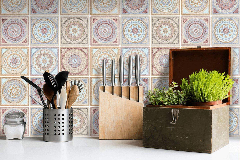"""Fliesenaufkleber für die Küche: """"Mosaik Afrike von Creatisto"""