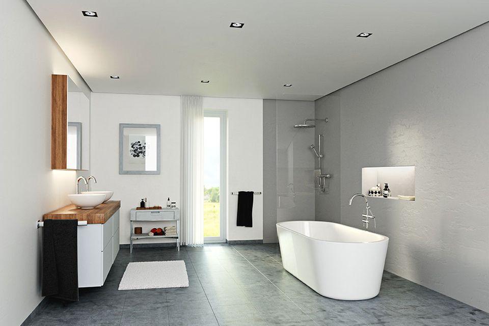 Betondesign-Optik: Bestes Badezimmer