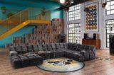 """Sofa """"Ocean 7"""" von Bretz in GRau in einem Loft"""