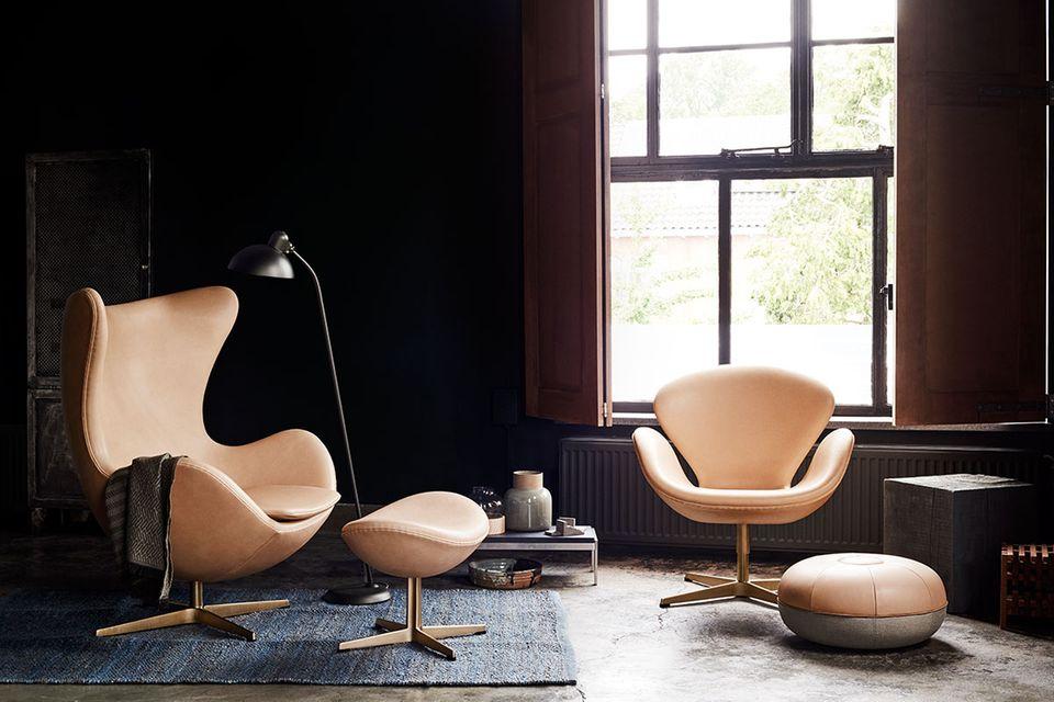 Egg Chair und Swan Lounge Chair von Arne Jacobsen
