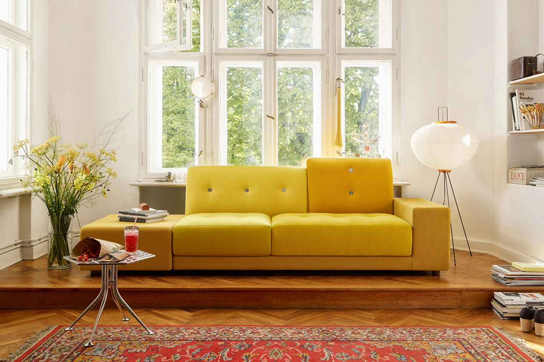 "Sofa ""Polder"" von Vitra in knalligem Goldgelb"