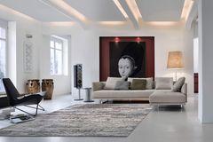 """Ecksofa """"Prime Time"""" von Walter Knoll in großem, modern eingerichtetem Wohnzimmer"""