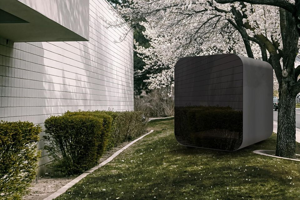 """Nein, das ist kein Bluetooth Speaker, sondern eine Office-Box für den Garten: der """"Studypod"""" von Koto."""