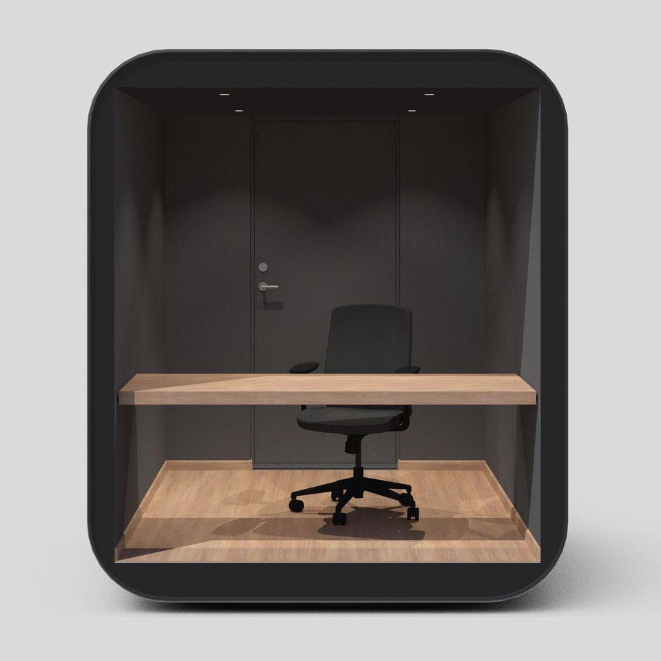 """Minimalistisches Design für minimale Ablenkung: der """"Studypod"""" von Livit."""
