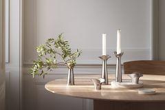 """Kerzenständer """"Bloom"""" aus Stahl von Georg Jensen"""