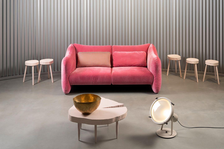 "Sofa ""Bongo Bay"" von Brühl in Dunkelrosa"